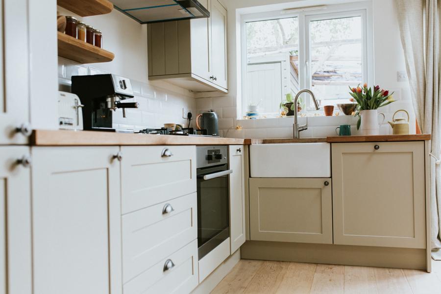 Kitchen with belfast sink